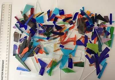 Stained Glass Offcuts. 570g - various sizes, colours, shapes, textures