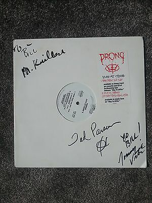 "Prong Live At The Cbgb's Rare Signed 12"" Etched Vinyl"