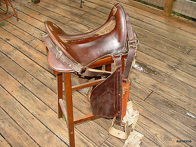 McClellan Saddle Bridle US Military WWI Artillery Horse 11 1/2 Inch Seat Leather