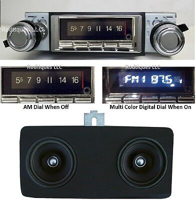 1977-79 Nova Bluetooth AM/FM Stereo Radio + Dash Speaker w/ AC 740
