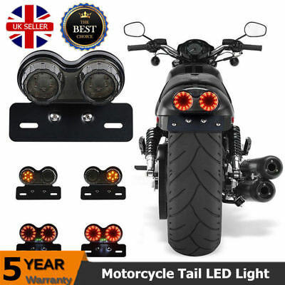 40 LED Motorcycle Integrated Rear Tail Light Turn Signal Brake license Plated UK