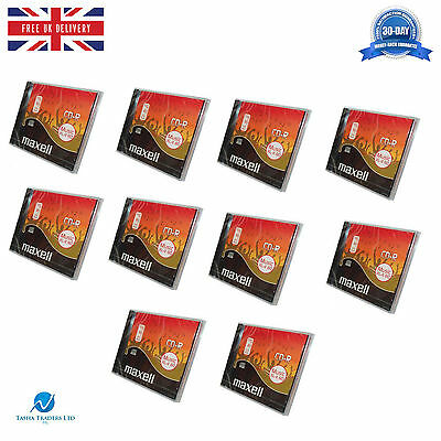 10 x Maxell Audio CD-R Jewel Case ReWritable Recordable CDR XL-II 80 10 pack HQ
