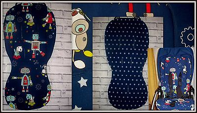 Custom made reversible seat liner fit Bugaboo Bee+ / Bee3 / Bee5 / Cam / Donkey