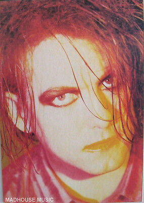 THE CURE POSTCARD Vintage ' ROBERT SMITH ' ITALIAN Face Pic. 90'S ISPC1124