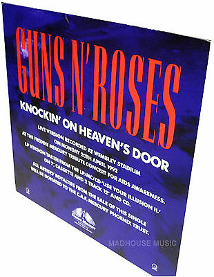 GUNS N ROSES Knockin' On Heaven's Door UK PROMO Only Standee DISPLAY Stand