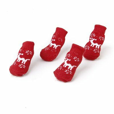 Christmas Dog Cat Paw Protection reindeer non - s socks S-BT