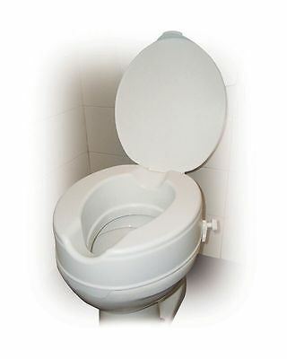 """Raised Toilet Seat with Lid 4"""" UK Seller Same Day Dispatch"""