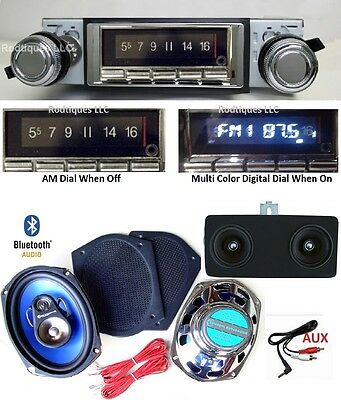 1968-72 Nova Bluetooth AM/FM Stereo Radio + Dash Speaker + 6 x 9's  NO AC 740