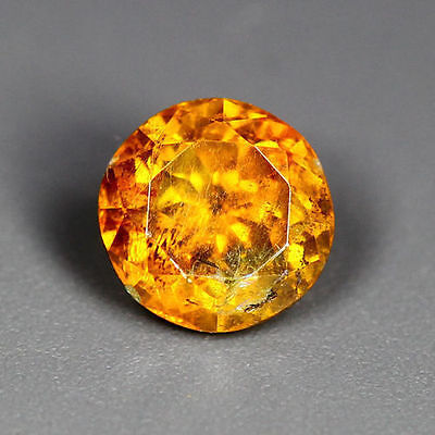 0.75 Cts_World Class Rare Portugal Cut_100 % Natural Sphalerite_Sunset Orange !!