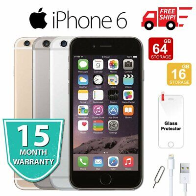 Apple iPhone 6 64GB 16GB 128GB Factory Unlocked Smartphone Plus Gift - All Color