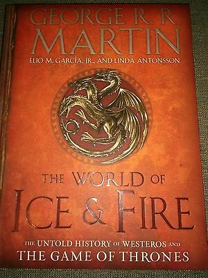 The World of Ice and Fire George R R Martin FLAT SIGNED HARDCOVER 1st EDITION