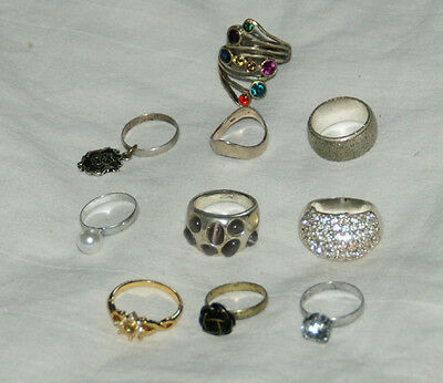 Mixed Collection Of  Fashion/Costume RINGS