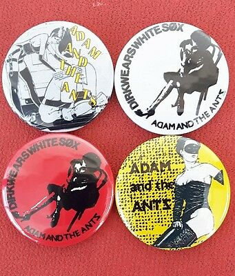 Adam and the ants pre owned  Punk Badge Set 2