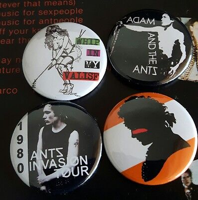 Adam and the ants pre owned Punk Badge Set 4