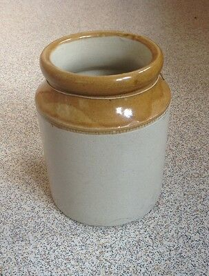 Old Vintage Brown Pottery Vase Jar Pot