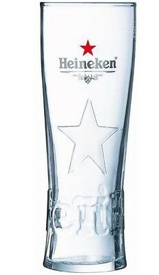 Heineken Star Beer Half Pint Glass Glass (x2) Free UK Postage