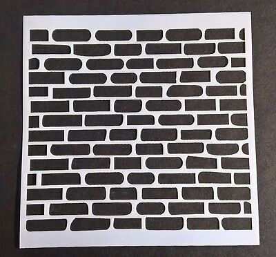 Brick Stone Stencil Scrapbooking Card Making Airbrush Painting Home Decor Diary