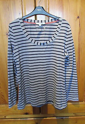 Ladies Grey/Black Long Sleeve Top BOden UK 20