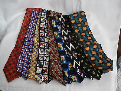 Mens Silk Ties Paul Smith Piscador Jonelle Daniel Hechter Joblot of 9
