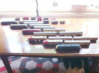 model trains , sought after Lima Warship Class and  Hornby engines & carraiges