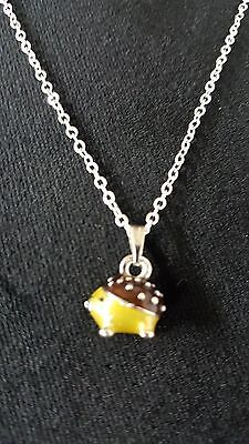 "Hedgehog Necklace, Pendant Very Cute 18"" Chain"