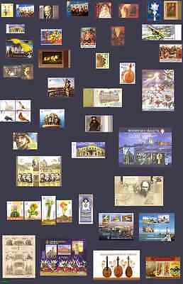 Ukraine COMPLETE FULL YEAR Set of stamps 2014in FULL SHEETS blocks MNH