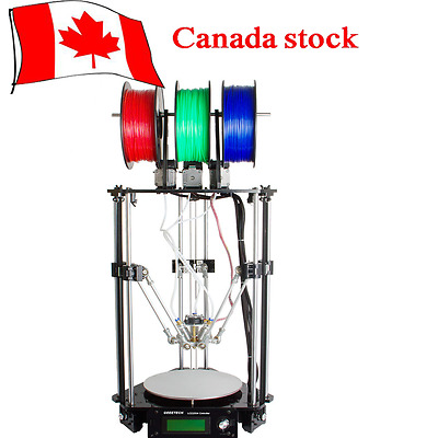 Geeetech Latest Rostock Delta 301 triple-color 3-in-1-out extruder 3D printer