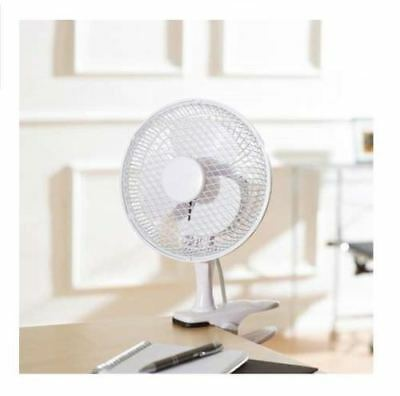 "6"" Inch Silent Small Desktop Clip On Portable Fan Table Desk Air Cooling 2 Speed"