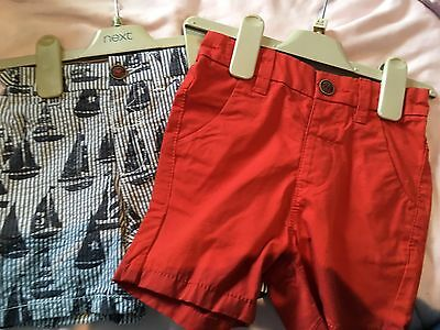 Next Boys 2 Pack Shorts 18-24 Months