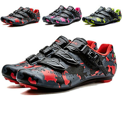 Santic Mens Pro Road Cycling Bike Bicycle Shoes  Auto-locking PU Sneakers New