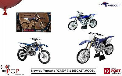Newray Yamaha YZ450F 1:6 DIECAST MODEL Motocross Dirt Bike BNIB Blue Japanese