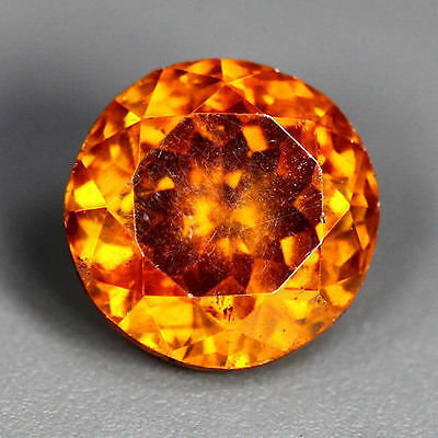 1.77 Cts_World Class Rare Portugal Cut_100 % Natural Sphalerite_Sunset Orange !!