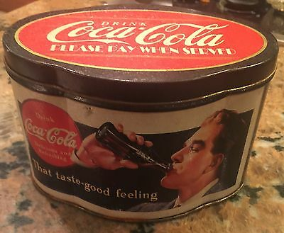 1994 Coca Cola Oval Shaped Tin... The Tin Box Company