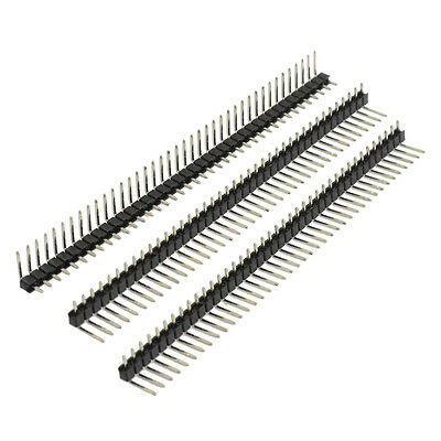 3 Pcs 40 Pins 2.54mm Pitch Right Angle PCB Board Pin Headers BT W2A1