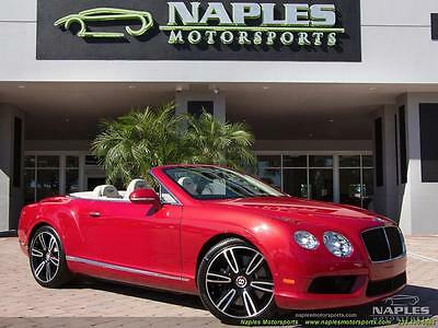 2013 Bentley Continental GT GTC Convertible 2013 Bentley Continental GT GTC Convertible Automatic 2-Door Convertible