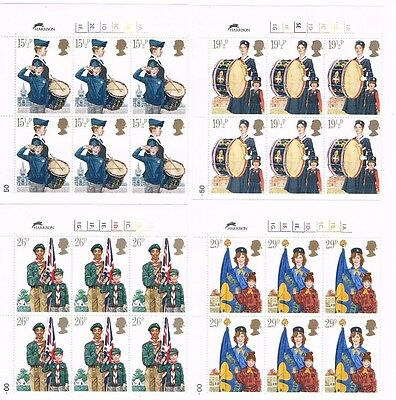 GB Commemoratives 1982 Scouts and Youth Organisations - Cylinder Blocks of 6