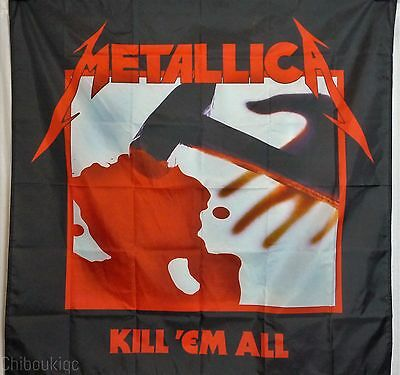 METALLICA Kill 'Em All HUGE 4X4 banner poster tapestry cd album cover