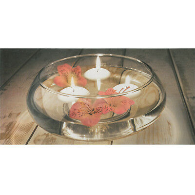 Shallow Clear Glass Bowl Floating Candle Flower Holder Wedding Table Centrepiece
