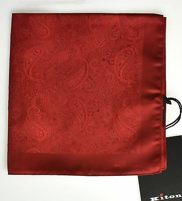NEW 2017 KITON POCKET SQUARE 100%SILK 14x14 BEST OF THE BEST+1 KPS181