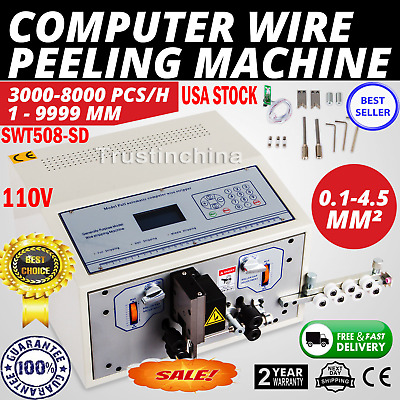 Automatic Computer Wire Stripping Cutting Peeling Machine Stripper 0.1-4.5mm2 CE