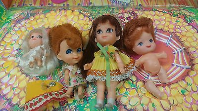 VINTAGE 1960's Liddle Kiddle Doll Club House Playset Carrying Case w 4 dolls.