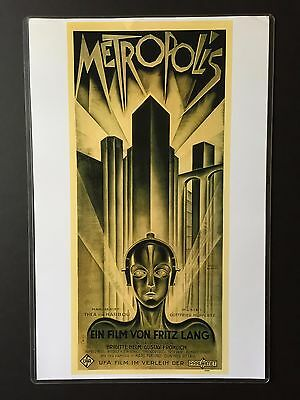 Fritz Lang Metropolis 11x17 Masterprint Replica Lobby Card With Plastic Sleeve