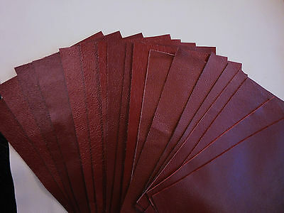 "Dark Red/burgundy/maroon leather offcut 6"" x 9"" - craft - PSW1"