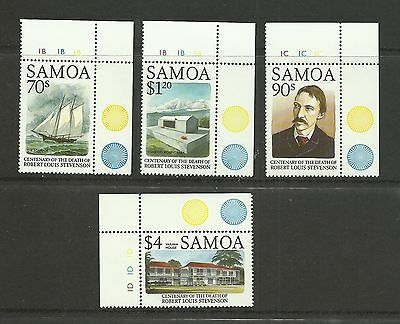 SAMOA 1994  Robert Louis Stevenson Death Centenary  umm / mnh  set