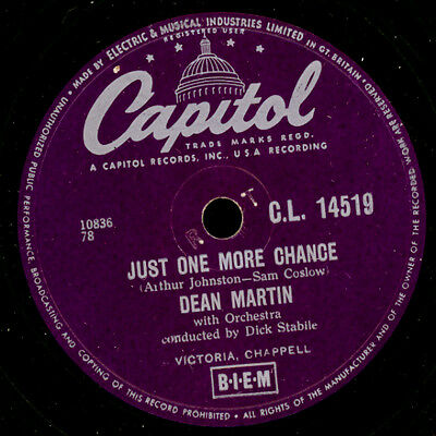 DEAN MARTIN  Just one more chance / Young and foolish    Schellackplatte   S7908