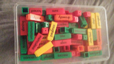 USED ETA 64782 Kids READING RODS VOCABULARY  KIT Learning Resources Set COMPLETE