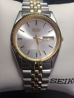 Brand new seiko men's SGF204 stainless steel two-tone watch