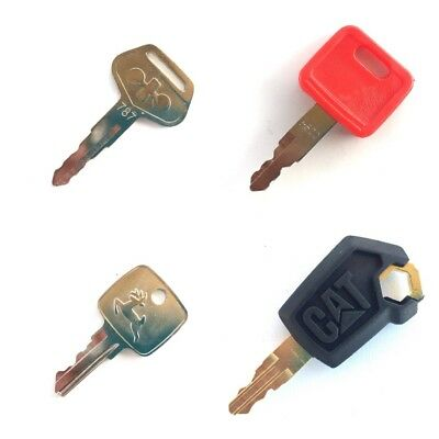 Heavy Equipment Ignition Key Set - 4 Keys CAT John Deere & Komatsu