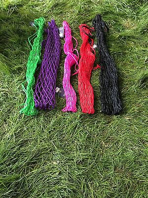 "4 large SHIRES 40"" haylage nets 2""holes 6.5kg capacity super quality fast post"