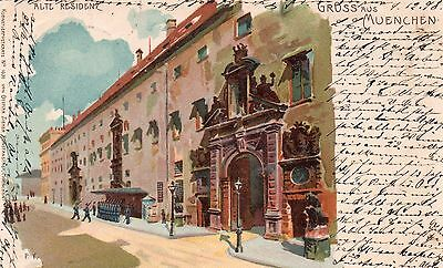 1898 U/b  Gruss Aus Munich Postcard By Paul Kley